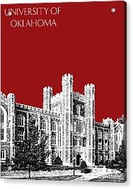 University Of Oklahoma - Dark Red Acrylic Print by DB Artist