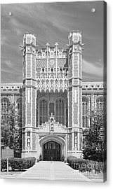 University Of Oklahoma Bizzell Memorial Library  Acrylic Print by University Icons