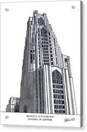 University Of Pittsburgh Acrylic Print by Frederic Kohli