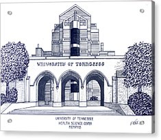 University Of Tennessee Acrylic Print by Frederic Kohli
