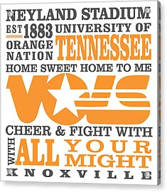 University Of Tennessee Graphic Canvas Acrylic Print