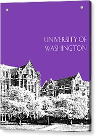 University Of Washington 2 - The Quad - Purple Acrylic Print by DB Artist