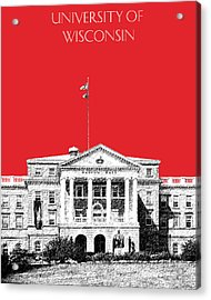 University Of Wisconsin - Red Acrylic Print by DB Artist