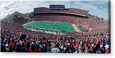 University Of Wisconsin Football Game Acrylic Print by Panoramic Images