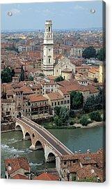 Unknown Artist, Gateway To Ponte Pietra Acrylic Print by Everett