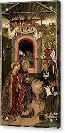 Unknown, Crib Altarpiece, 15th Century Acrylic Print by Everett