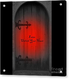 Unlock Your Heart Acrylic Print by Linda Prewer