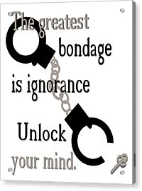 Unlock Your Mind Acrylic Print by Pharris Art