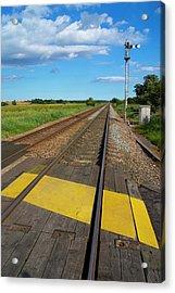 Unmanned Railway Crossing Acrylic Print
