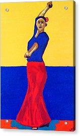 Unnamed Flamenco Dancer Acrylic Print by Greg Mason Burns