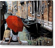 Uno Sguardo Al Canale Acrylic Print