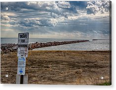 Unsafe For Swimming Acrylic Print by Ricky L Jones
