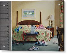 Unslept In Acrylic Print by Christopher Reid