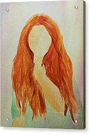 Unsure Acrylic Print by Elizabeth Sullivan