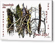 Untangle Your Knots Acrylic Print