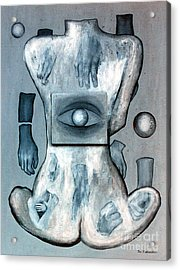 Acrylic Print featuring the painting Listen Via Your Eyes by Fei A