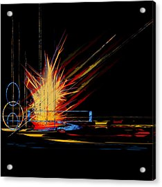 Acrylic Print featuring the digital art Untitled 69 by Andrew Penman