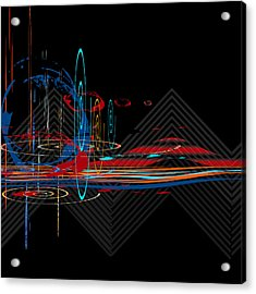 Acrylic Print featuring the digital art Untitled 76 by Andrew Penman