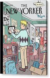New Yorker May 24th, 2010 Acrylic Print by Dan Clowes