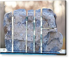 Untitled Glass And Rock Sculpture Acrylic Print by Tommy  Urbans