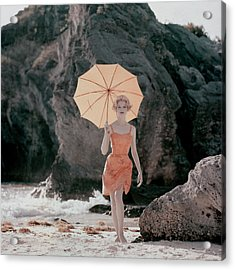 Vogue January 1st, 1959 Acrylic Print by Jerry Schatzberg