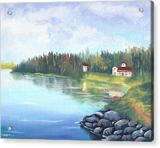 Untitled Landscape Oil Painting Acrylic Print