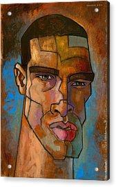 Untitled Male Head August 2012 Acrylic Print by Douglas Simonson