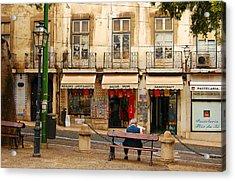 Lisbon Street Scene Acrylic Print