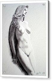 Untitled Nude Acrylic Print by Joseph Ogle