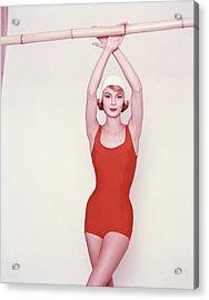 Vogue January 1st, 1958 Acrylic Print by Richard Rutledge