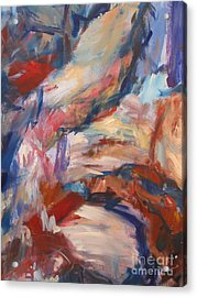 Acrylic Print featuring the painting Untitled V by Fereshteh Stoecklein