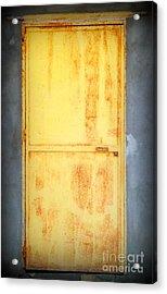 Unused Door Acrylic Print by Clare Bevan