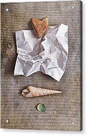 Unwritten Letter 1 Acrylic Print by Elena Kolotusha