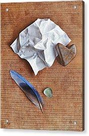 Unwritten Letter 2 Acrylic Print by Elena Kolotusha