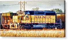 Up 3428 Rcl Locomotive In Color Acrylic Print by Bill Kesler