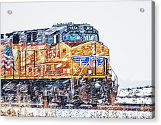 Up 5854 In The Snow Acrylic Print