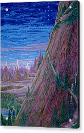 Acrylic Print featuring the painting Up Again I Went ... by Matt Konar