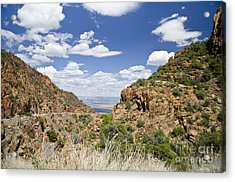 Up From Jerome Arizona Acrylic Print by Maria Janicki