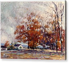 Acrylic Print featuring the painting Up State Ny - Nyack by Walter Casaravilla
