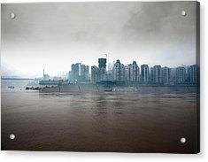 Up Stream The Yangtze River Acrylic Print