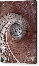 Up Through The Spiral Staircase Acrylic Print by K Hines
