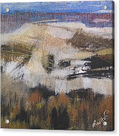 Up To The Horizon Acrylic Print by Alicja Coe