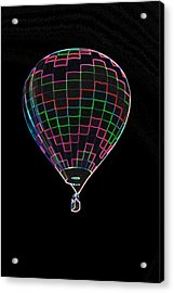 Up Up And Away In Neon Acrylic Print