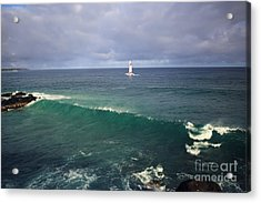 Upon A Wave Acrylic Print by Deena Otterstetter