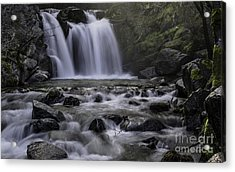 Upper Crystal Creek Falls  Acrylic Print