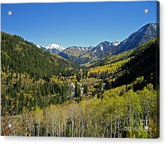 Acrylic Print featuring the photograph Upper Crystal River Valley by Eric Rundle