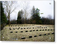 Upper Dublin Freinds Meetinghouse Burial Ground Acrylic Print by Bill Cannon