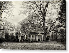 Upper Dublin Meetinghouse In Sepia Acrylic Print by Bill Cannon
