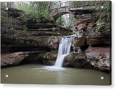 Upper Falls At Old Mans Cave II Acrylic Print
