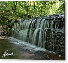 Upper Falls At Stillhouse Hollow Acrylic Print